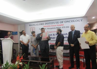 Bioethics Education & Research Unit of the UNESCO Chair in Bioethics, Haifa inaugurated at Mangalore Institute of Oncology