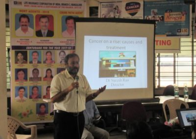 Dr Suresh Rao presented a talk to the staff of life insurance of corporation of india (lic), mangalore division