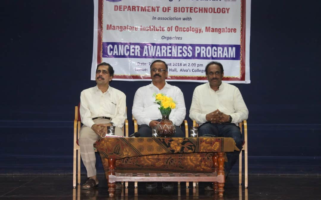 Cancer awareness programme at Alva's degree College