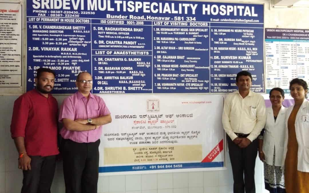 Mangalore Institute of Oncology conducted a free cancer detection camp at Shridevi Hospital