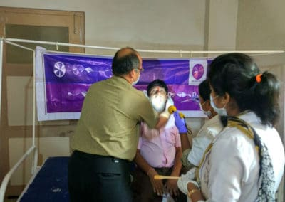 Cancer awareness camp at Thirthahalli