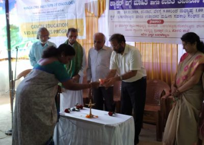 Cancer Awareness talk, and oral and breast screening camp at Badagabellur
