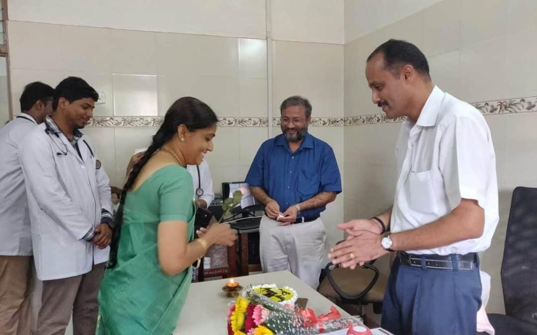 Weekly visit by Dr. D Suresh Rao to SDM Ayurveda