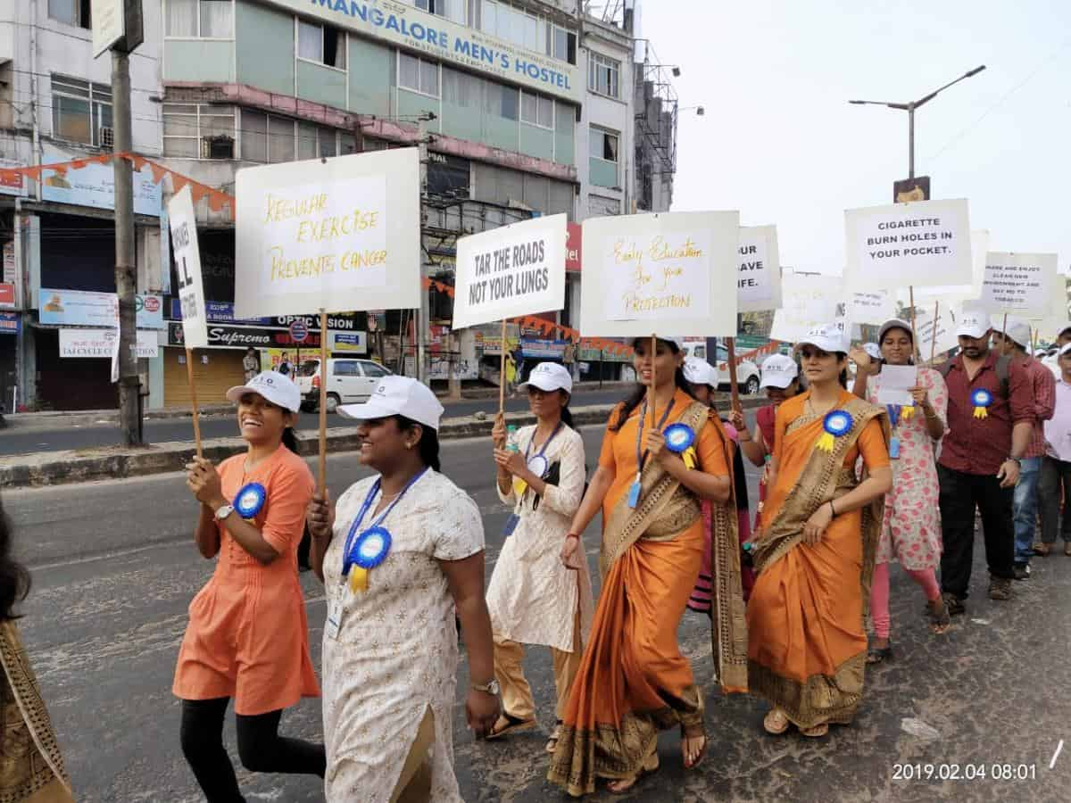 Walkathon by Mangalore Institute of Oncology to commemorate