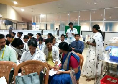 Hands on training for Colostomy care