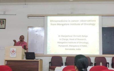 Dr. MS Baliga delivers a talk at Manipal