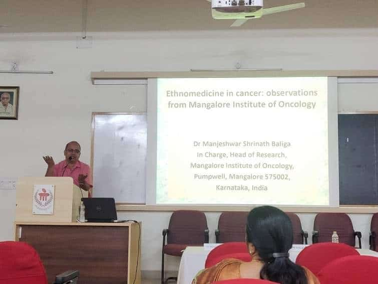 Dr. MS Baliga delivers a talk at Manipal