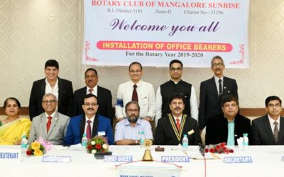 Installation day at the Rotary Club