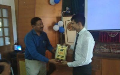 Dr. Krishna Prasad Director MIO speaks at St Agnes College, Mangalore