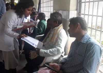 A cancer screening camp conducted at Sub-divisional Hospital, Sagar, Shivamogga