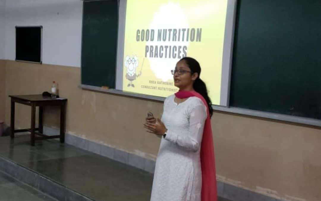 Ms. Rhea D'souza at St Agnes College, Mangalore