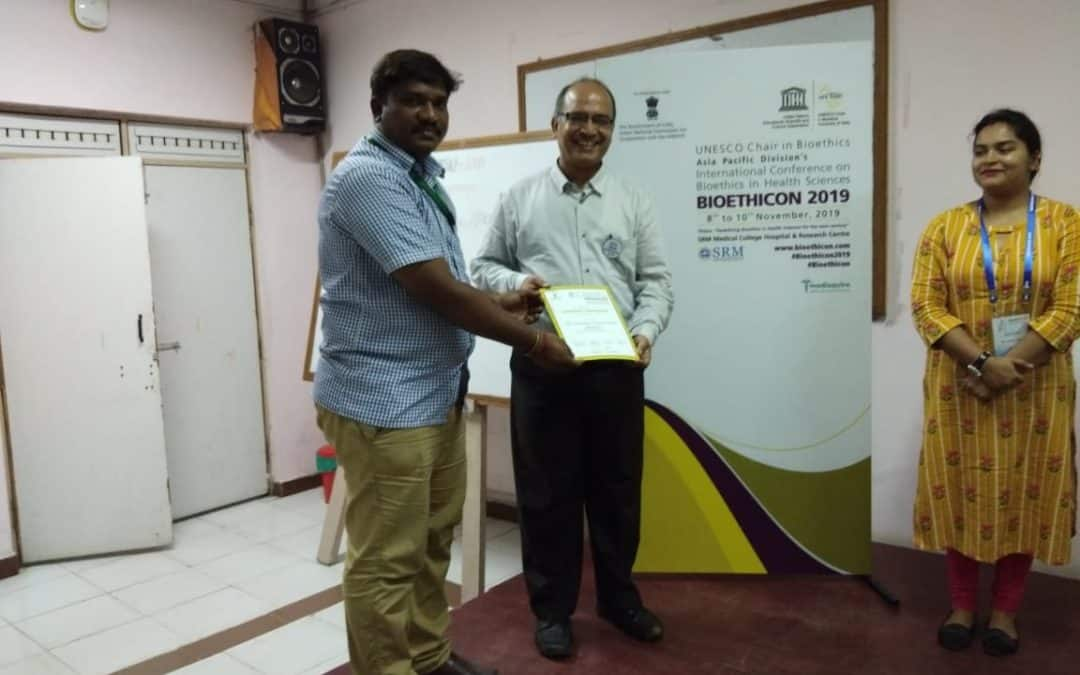 "International conference on Bioethics ""BIOETHICON 2019"" at Chennai"