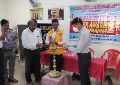 Cancer Awareness Programme at Lions Club Mangaladevi.